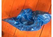 Бахилы двухслойные ультра прочные текстурированные с двойной резинкой и двойной подошвой 14 гр. 140 мкм (микрон)