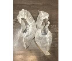 Бахилы ламинированные прочные белые 15 гр. 120 мкм (микрон)