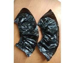 Бахилы полиэтиленовые прочные черные (5 гр.) 50 мкм (микрон)