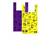"Пакет ""майка"" 43+20x64 (22) Электроника (жёлтый/синий/фиолетовый)"