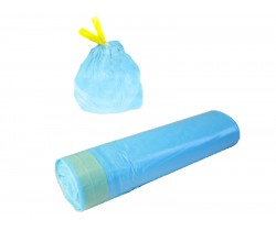 Мешки мусорные 30л 50х60 30 мкм (микрон) с завязкой в рулонах