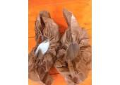 Бахилы ламинированные сверх мега прочные коричнево белые 40 гр. 200 мкм (микрон)