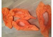 Бахилы ламинированные сверх мега прочные оранжевые 40 гр. 200 мкм (микрон)