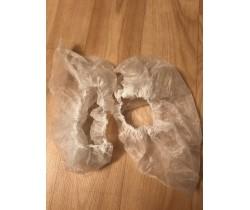 Бахилы (носки) нетканые, белые 15 гр./м2, размер M 12 мкм (микрон)