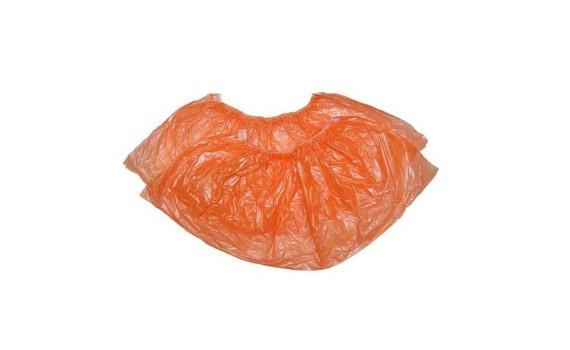 Бахилы полиэтиленовые (оранжевые 3,6 гр.)
