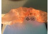 Бахилы особо прочные с двойной усиленной резинкой в евроблоке оранжевые (4.2 гр.)