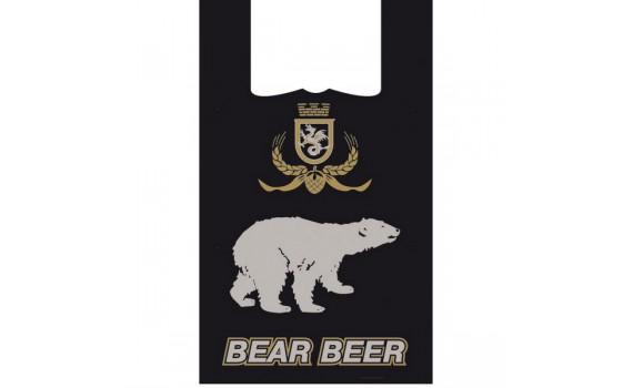 """Пакет """"майка"""" 32+20х60 (20 мкм) - (Медведь)"""