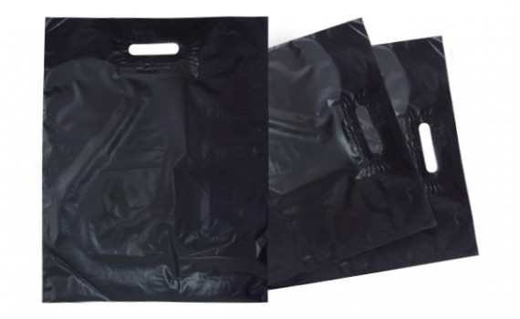 Пакет с вырубной ручкой 45х45 (100 мкм)  ПНД 100 кг