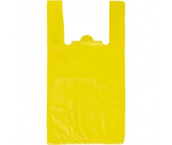 """Пакет """"майка"""" 25+12x45 13 мкм (микрон) (Белая, Желтая)"""