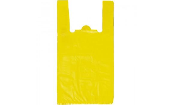 """Пакет """"майка"""" 25+12x45 (13 мкм) (Белая, Желтая)"""