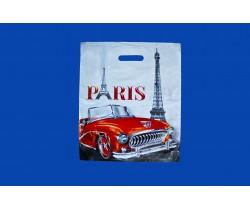 Пакет с вырубной ручкой 36х45 40 мкм (микрон) (Париж)