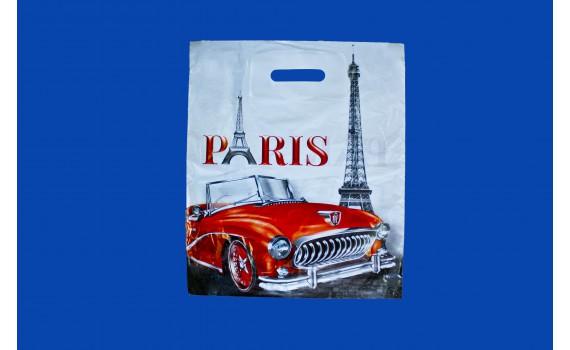 Пакет с вырубной ручкой 36х45 (40) (Париж)