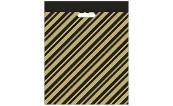 Пакет с вырубной ручкой 60х70 (50 мкм)  Золотая полоса