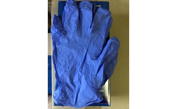 Перчатки нитриловые неопудренные, текстурированные на пальцах. Размер XL