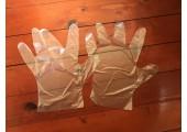 Перчатки полиэтиленовые размер M