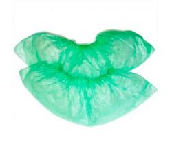 Бахилы полиэтиленовые упрочненные, Зеленые 5 гр. 50 мкм (микрон)
