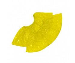 Бахилы полиэтиленовые (желтые 4 гр.) 40 мкм (микрон)