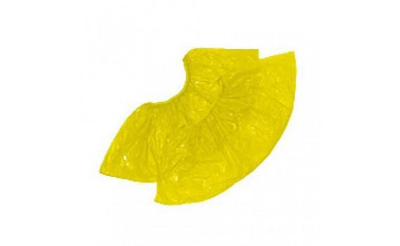 Бахилы полиэтиленовые стандарт желтые в евроблоке (3 гр.)